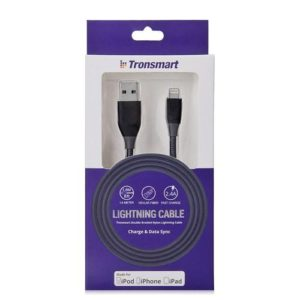 [Apple MFi Certified] Tronsmart 19AWG Lightning cable black box
