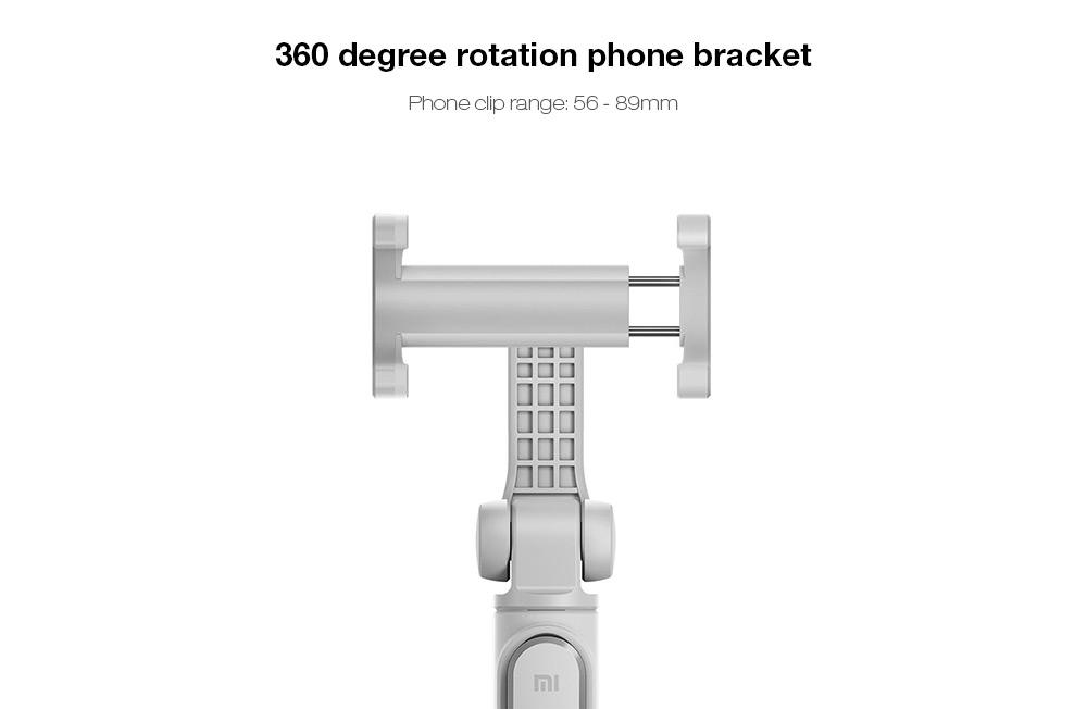 mi selfie stick bluetooth button 360 degree rotation