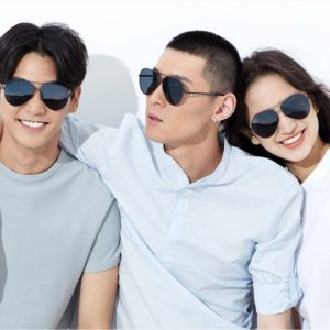 TS sunglasses two boys one girl wearing Mi TS Polarized Sunglasses Black