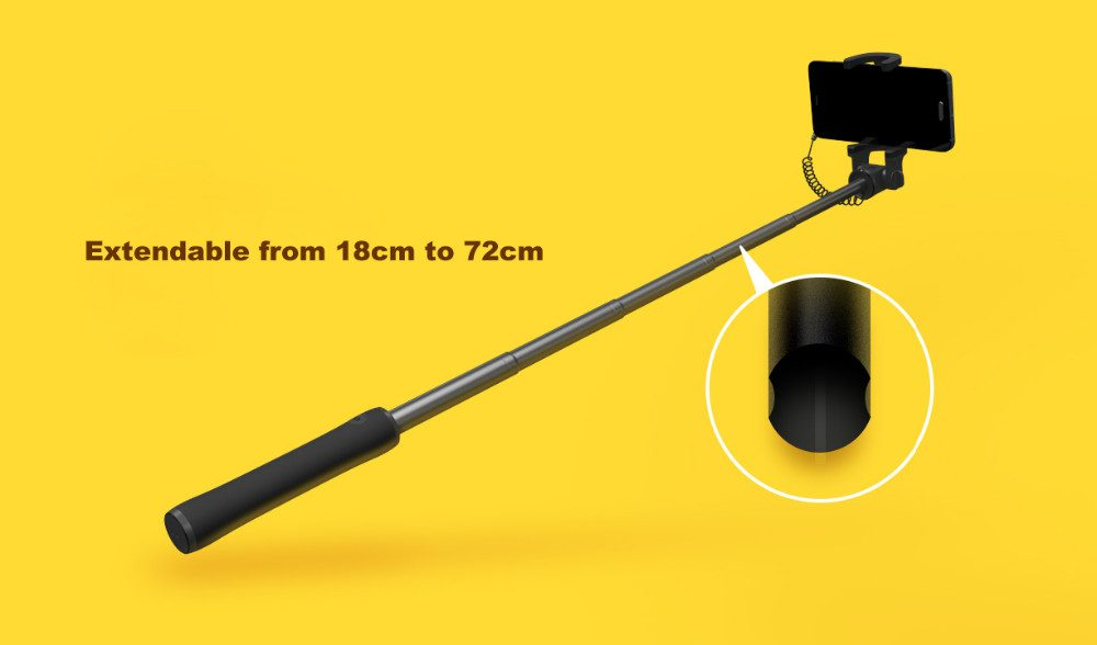 xiaomi wired selfie stick 70cm with audio cable no bt or charge required torumart. Black Bedroom Furniture Sets. Home Design Ideas