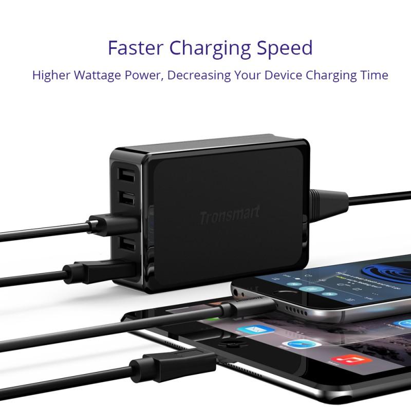 Tronsmart U5P 60W Desktop Charger faster charging pd volt iq