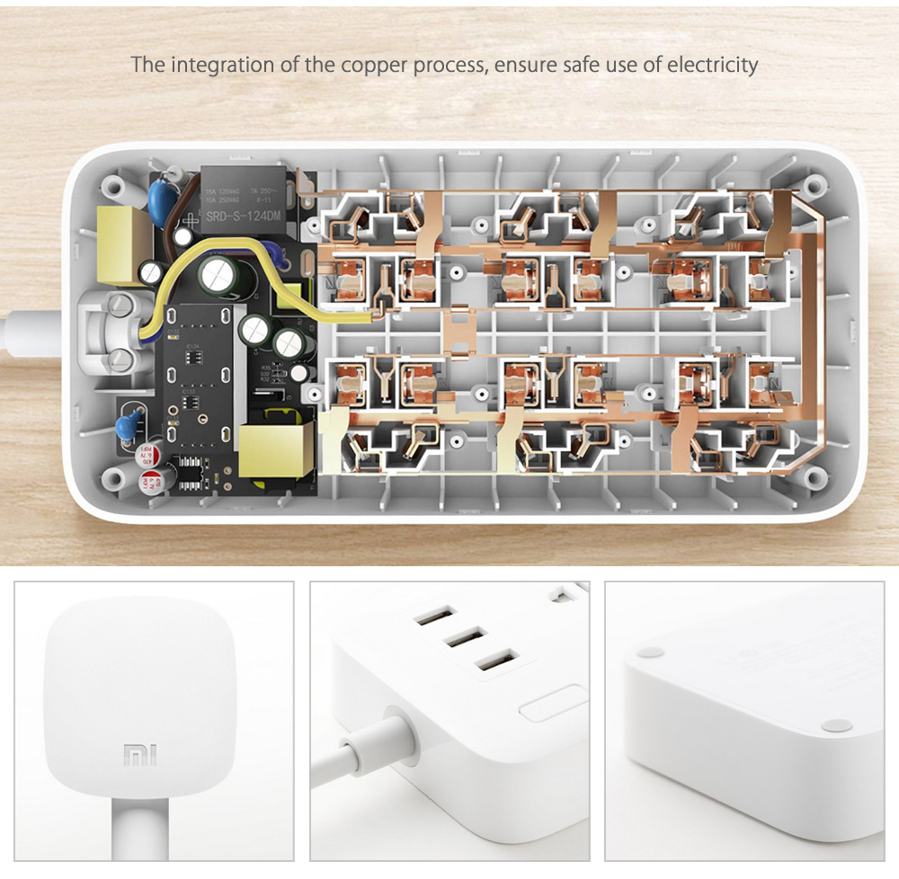Xiaomi Mi Power Strip 3 USB 6 Sockets