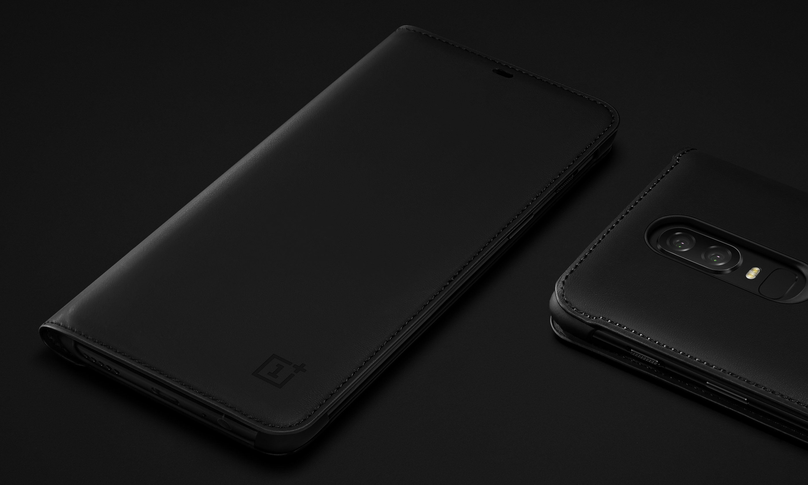 huge selection of 55ccf 8e412 Official OnePlus 6 Flip Cover Black