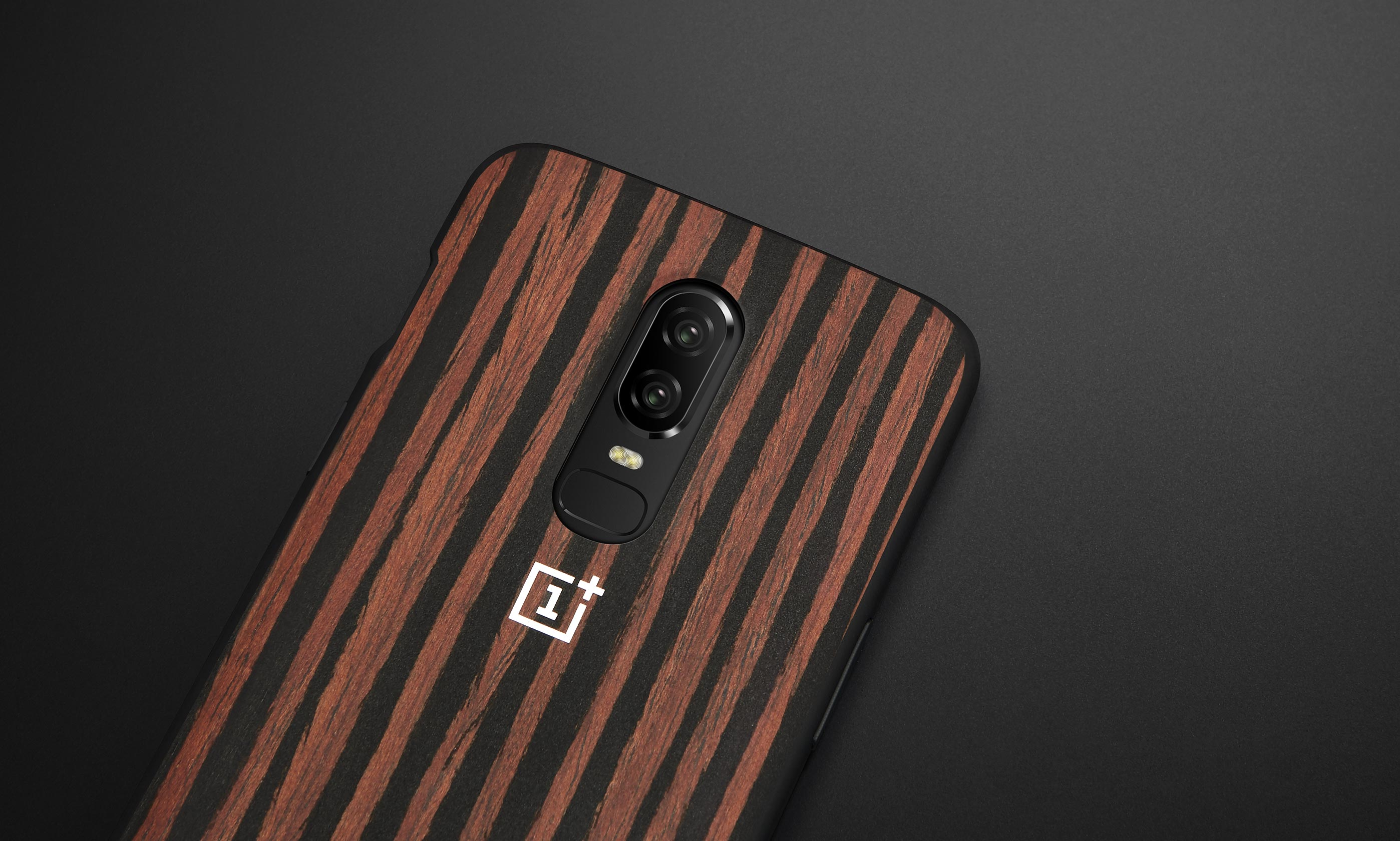 timeless design aadee 3aa35 OnePlus 6 Official Bumper Case Ebony Wood