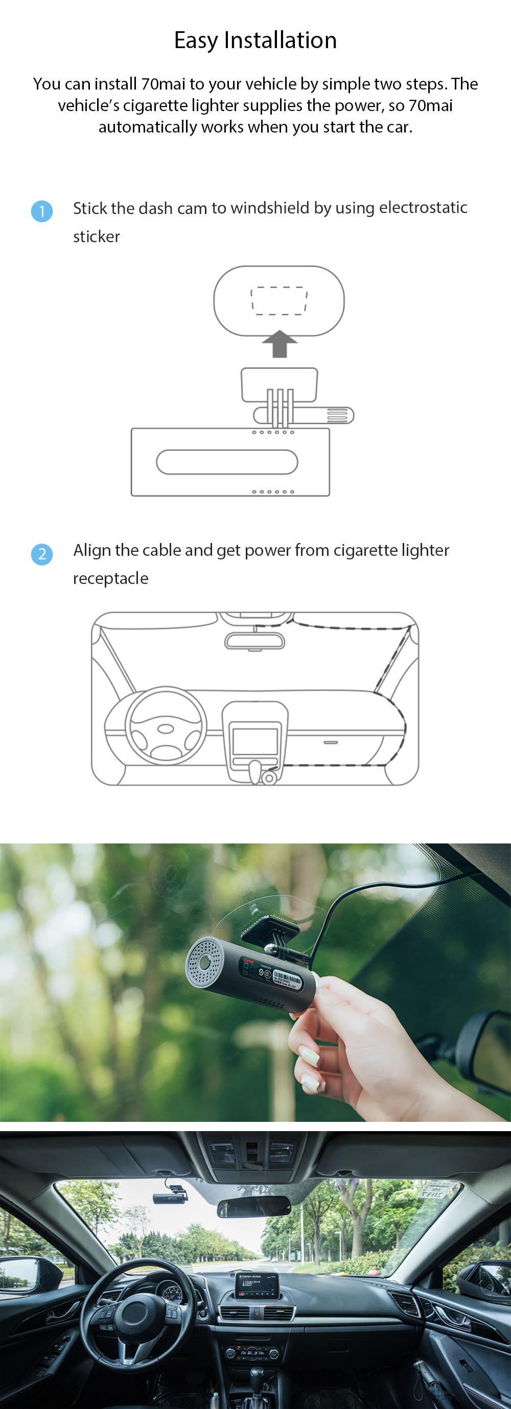 Xiaomi 70mai Smart DVR Dash Cam 1080p pakistan