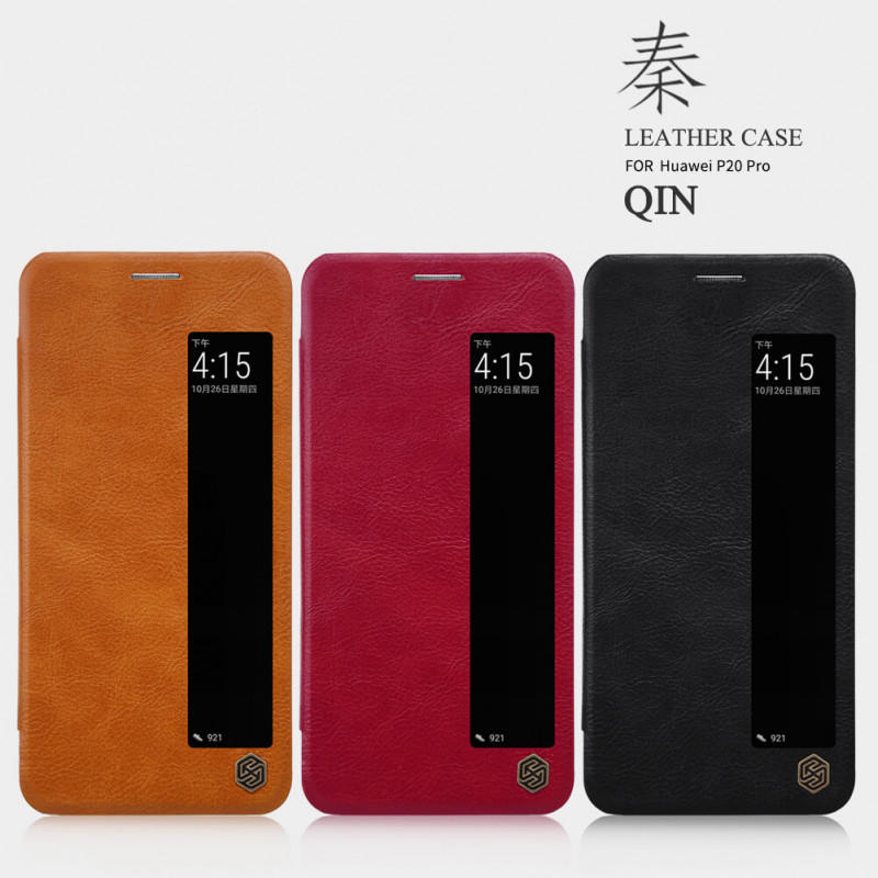 low priced 28a9f 6c611 Huawei P20 Pro Nillkin Qin Leather Flip Case