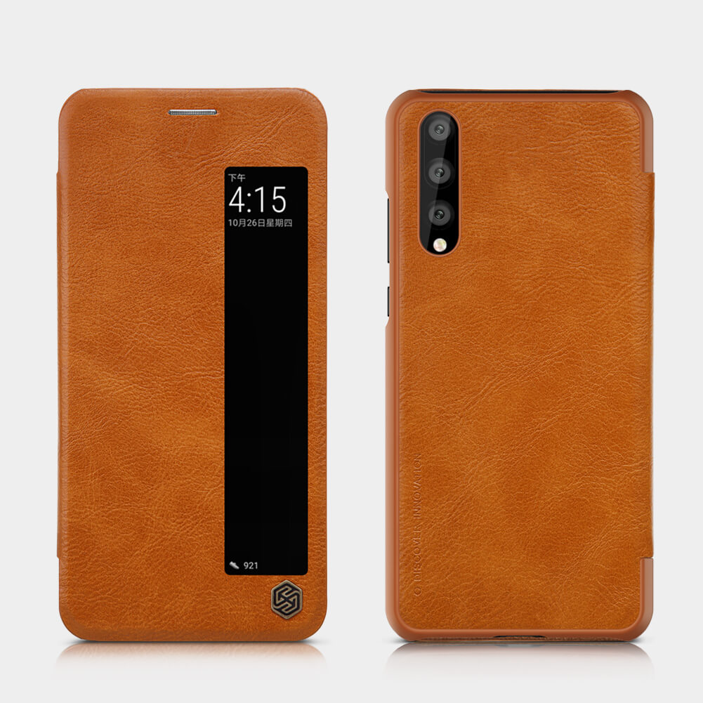 p20 pro leather case brown