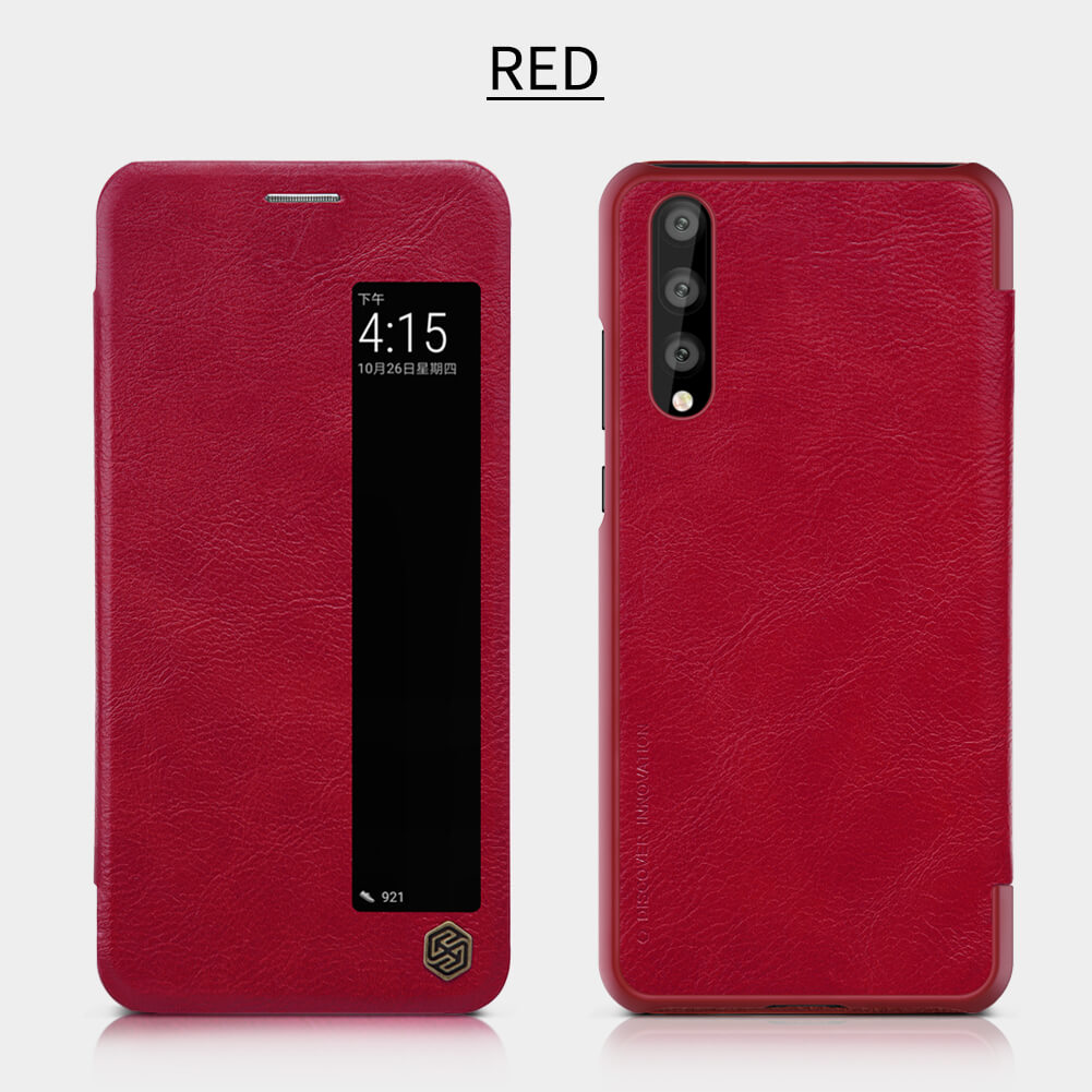 p20 pro leather case Red