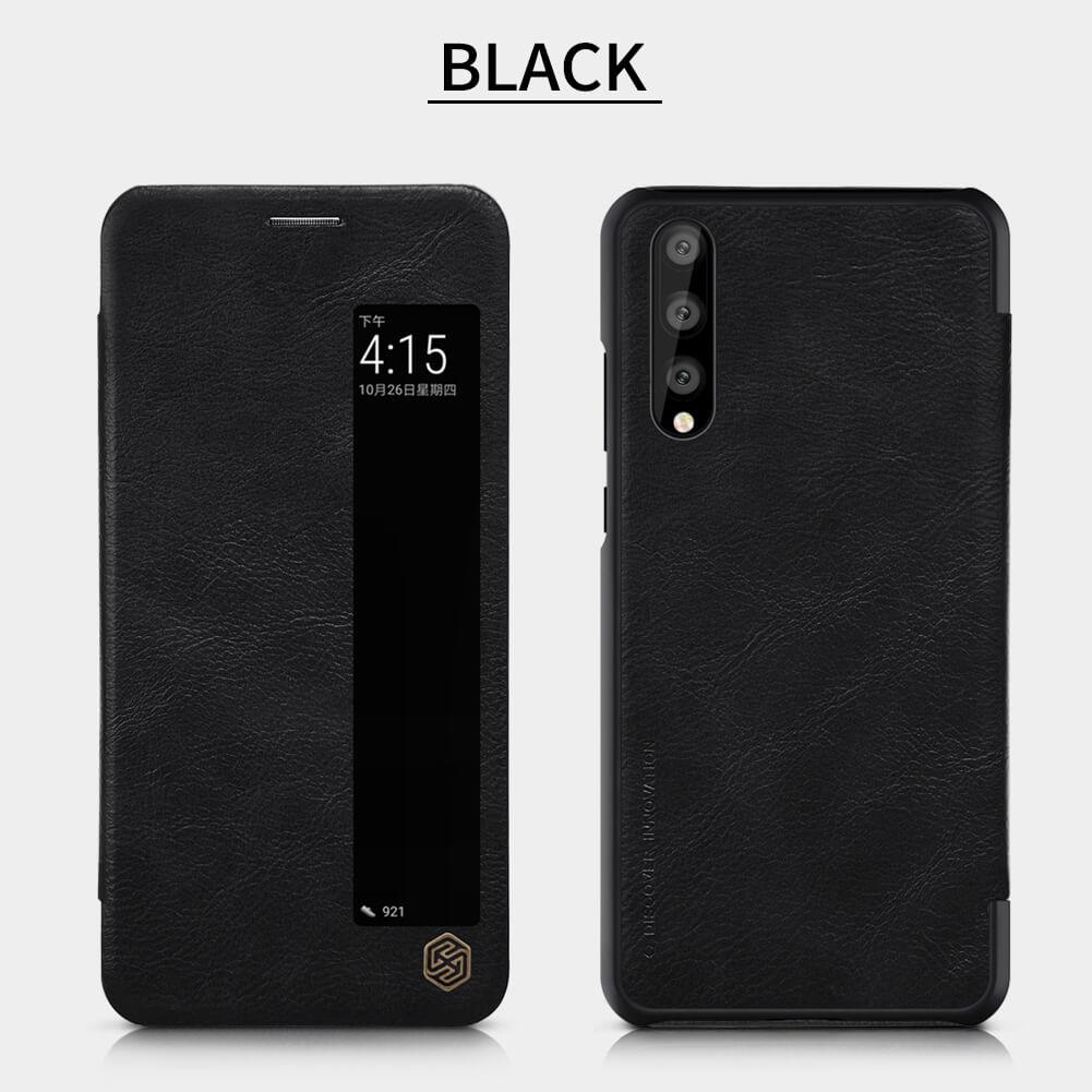 p20 pro leather case black