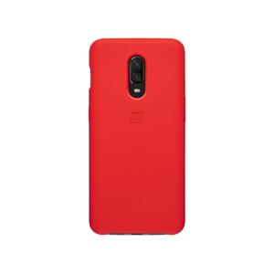 OnePlus 6T Silicone Protective Case Red back view