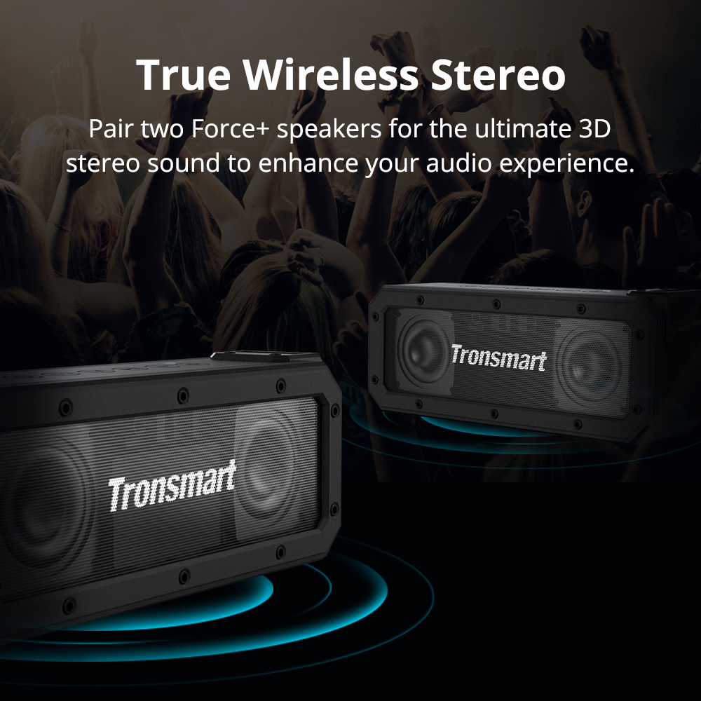 true wireless stereo pair two force+ speakers