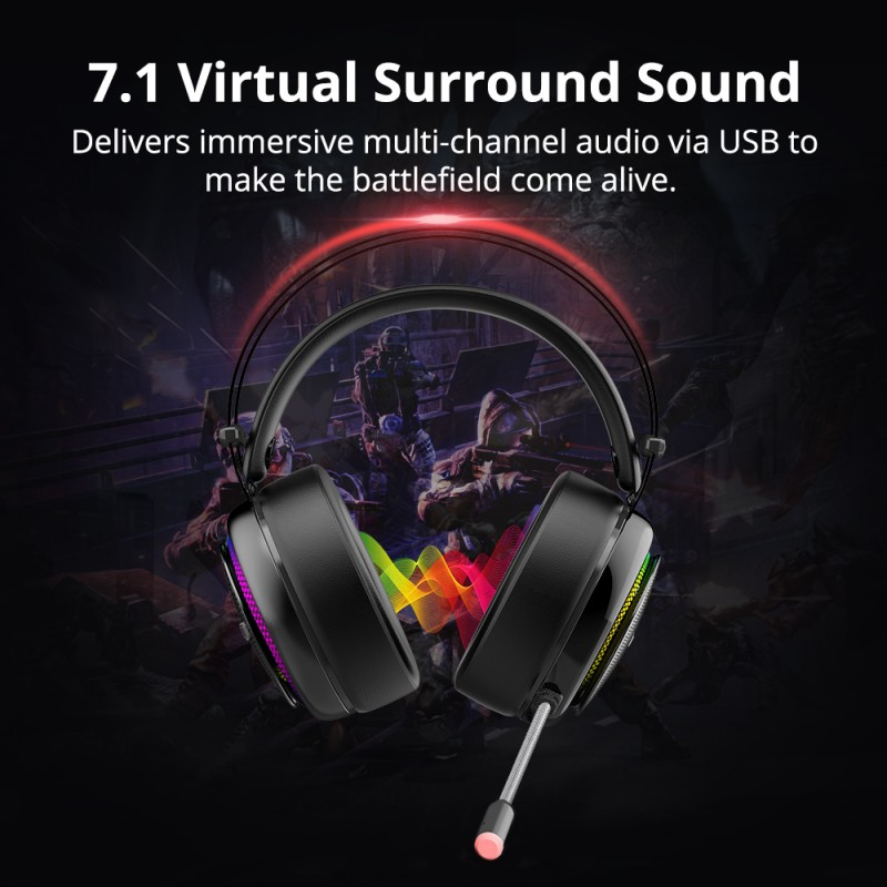 7.1 virtual sorround sound glary headphones tronsmart