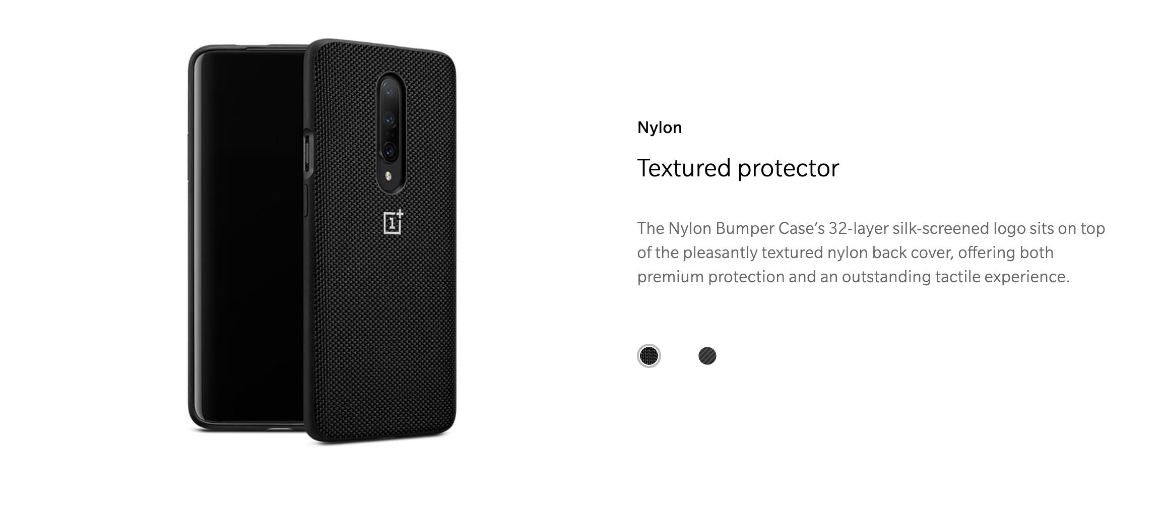 online retailer e949d 6b528 OnePlus 7 Pro Bumper Case Nylon (Black)