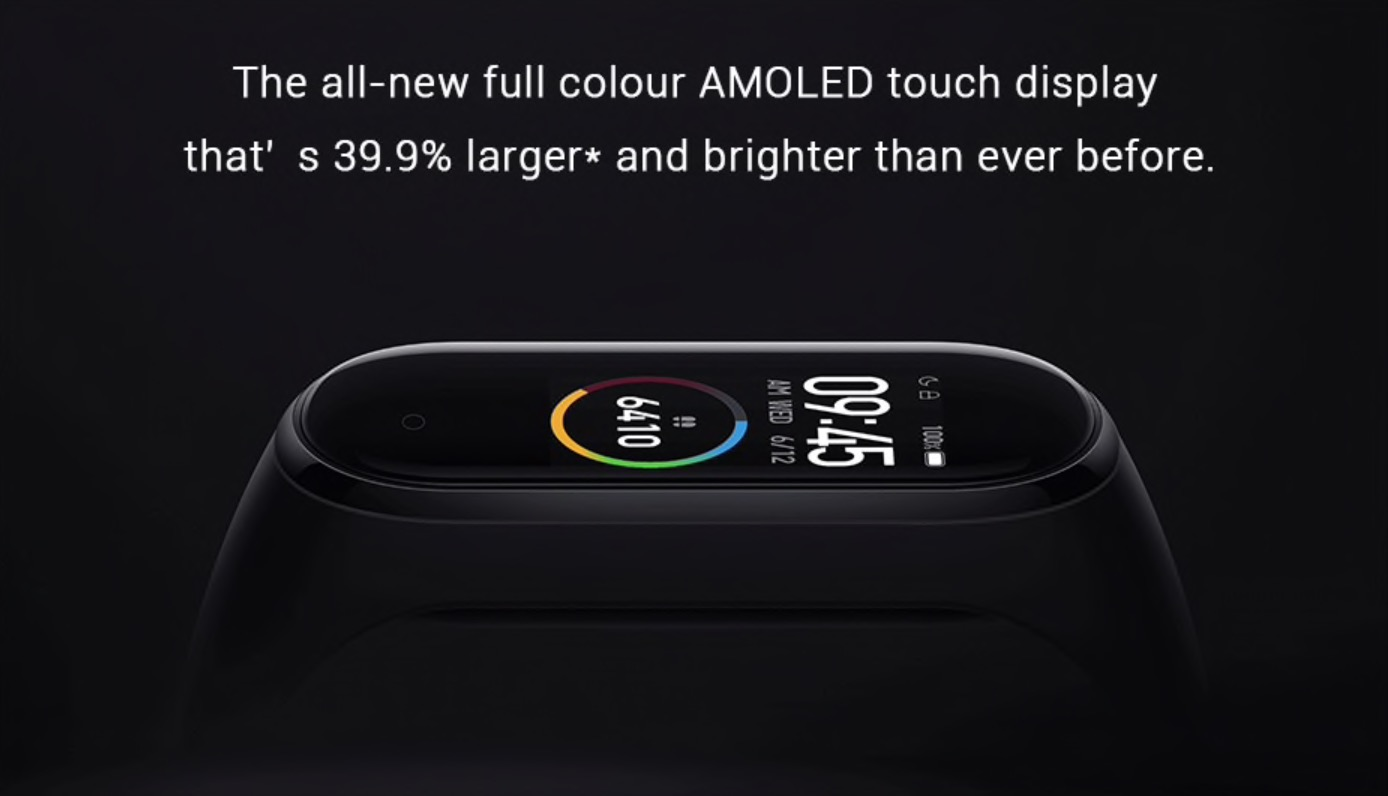 New AMOLED color screen not only is the brightness increased, but the display area is increased by 39.9%* see more at a glance