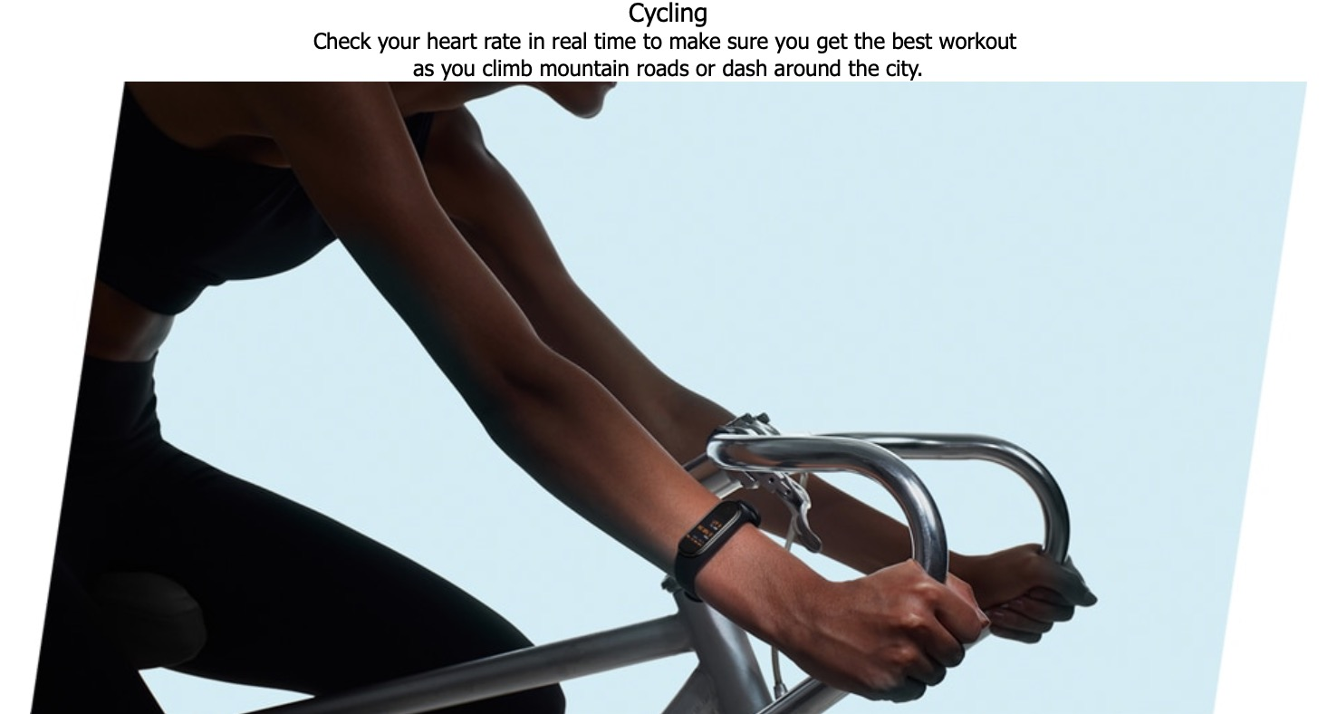 Cycling Riding Mountain biking, road cycling, real-time feedback of heart rate interval improves ride quality and avoids excessive fatigue