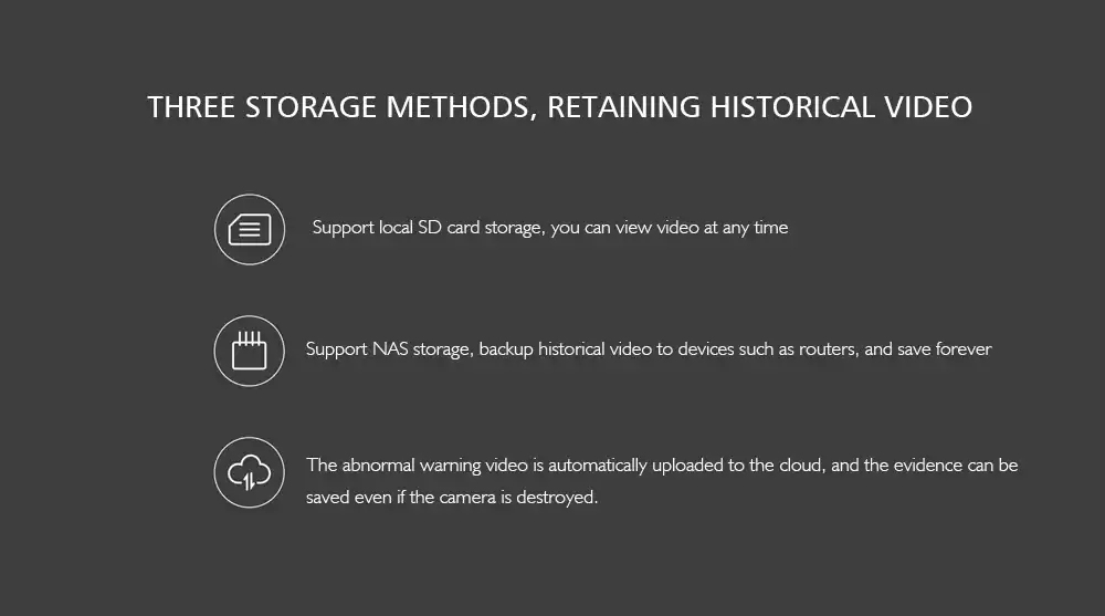 three storage methods g2 Aqara