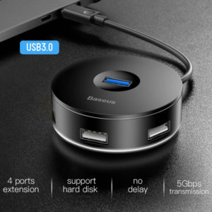 Baseus Round Box USB Type-C to A HUB Adapter