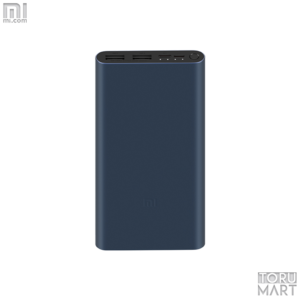 Black - Mi 10000mAh Power Bank 3 18W Fast Charge Version