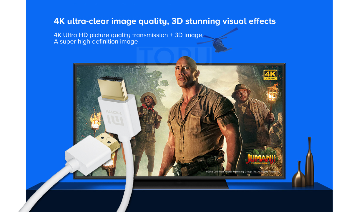4K Ultra HD picture quality transmission