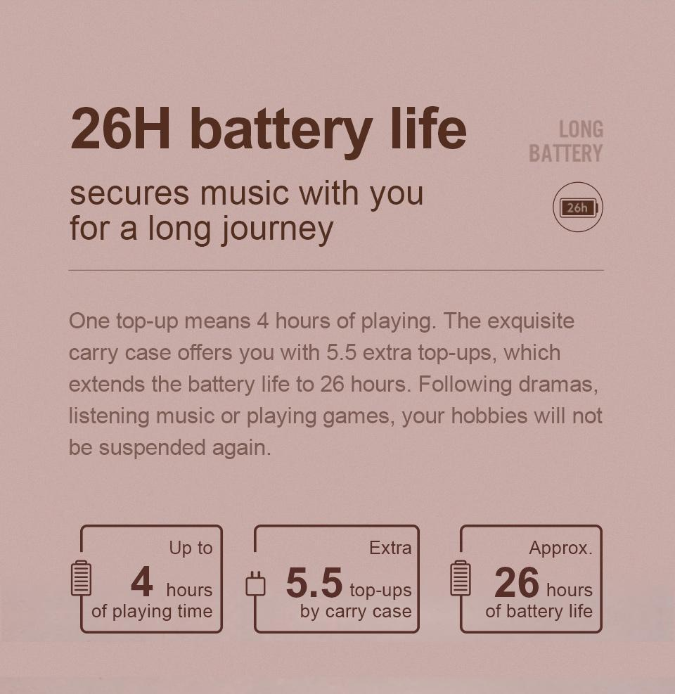 26h battery life