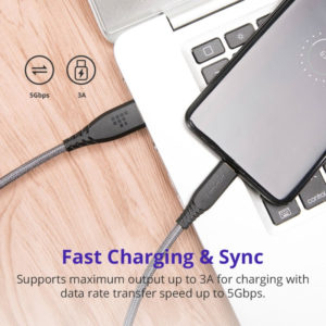 3A charging speed 5Gbps sync data trasnsfer