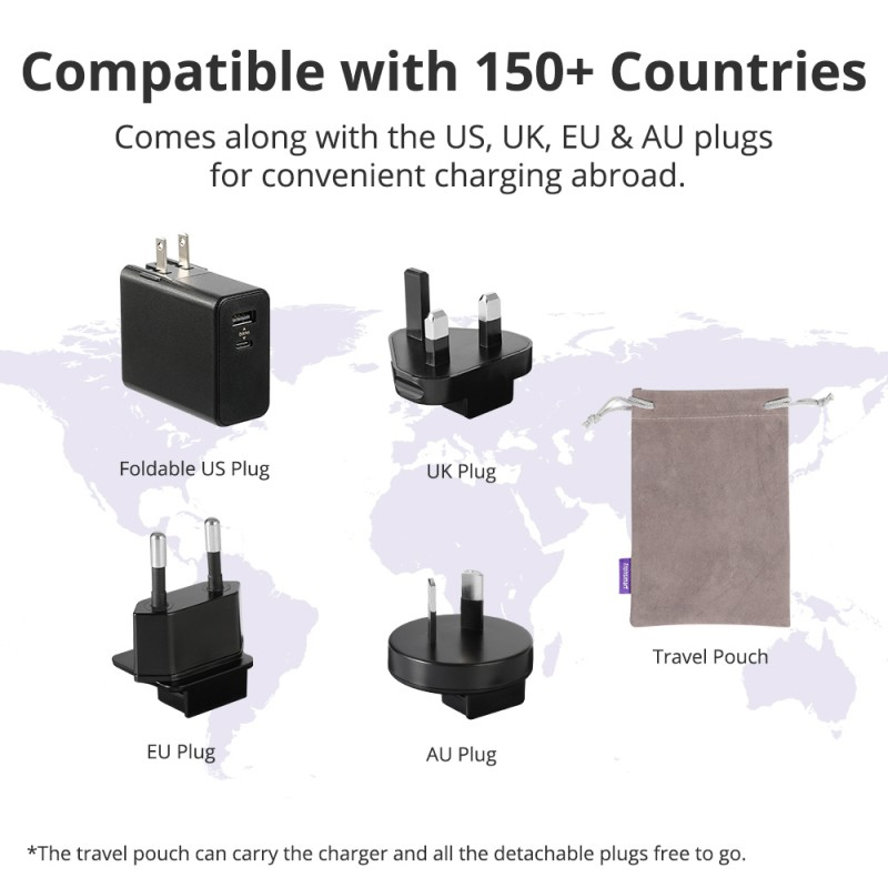 compatible with 150+ countries