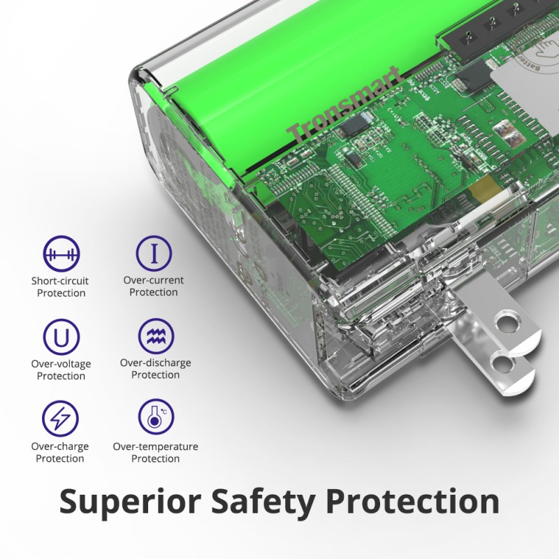 safety protection Tronsmart WPB01 Portable Travel Charger + Power Bank