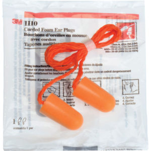 3M 1110 Corded Foam Plugs 8