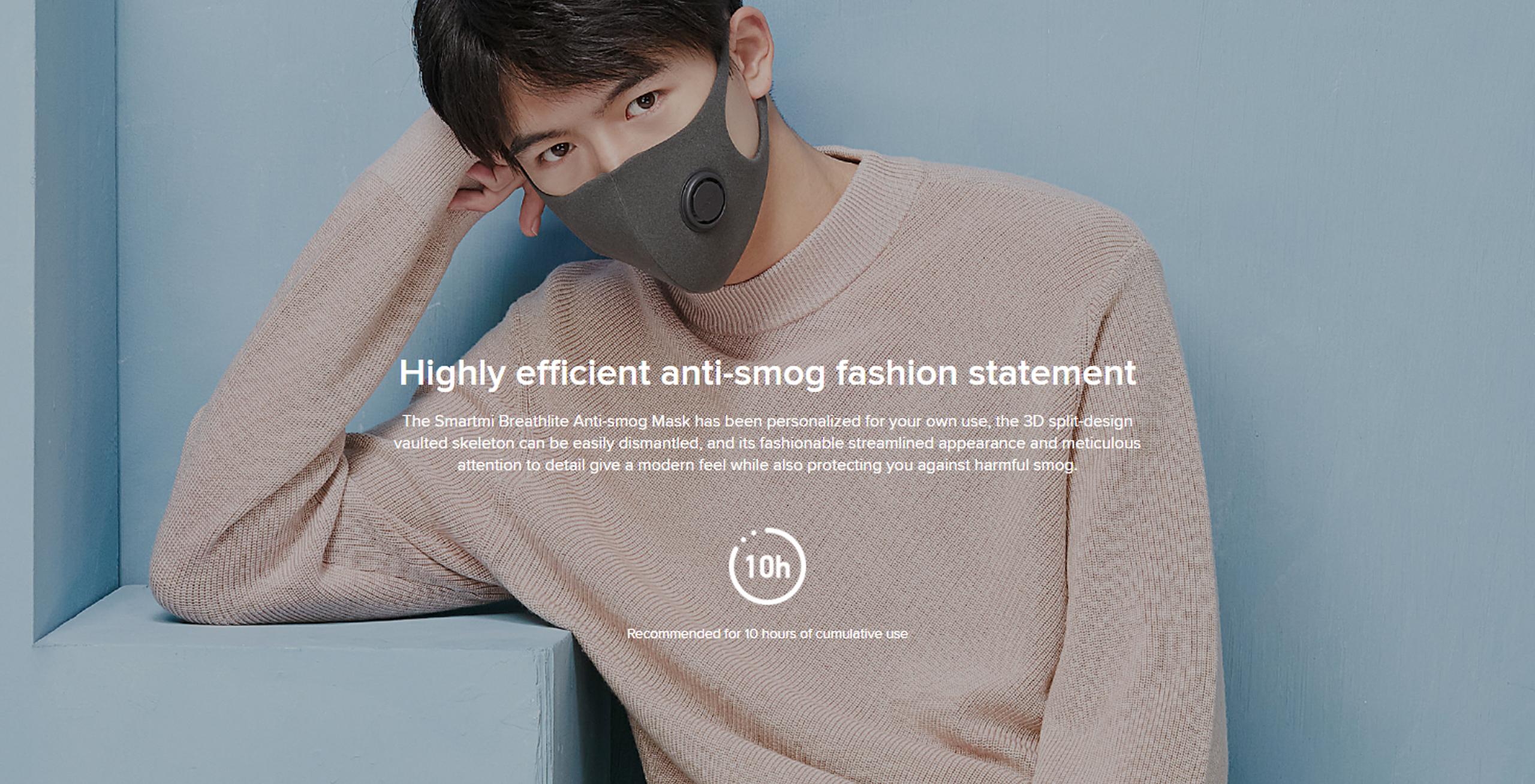 Smartmi Breathlite Anti-Smog Mask KN95