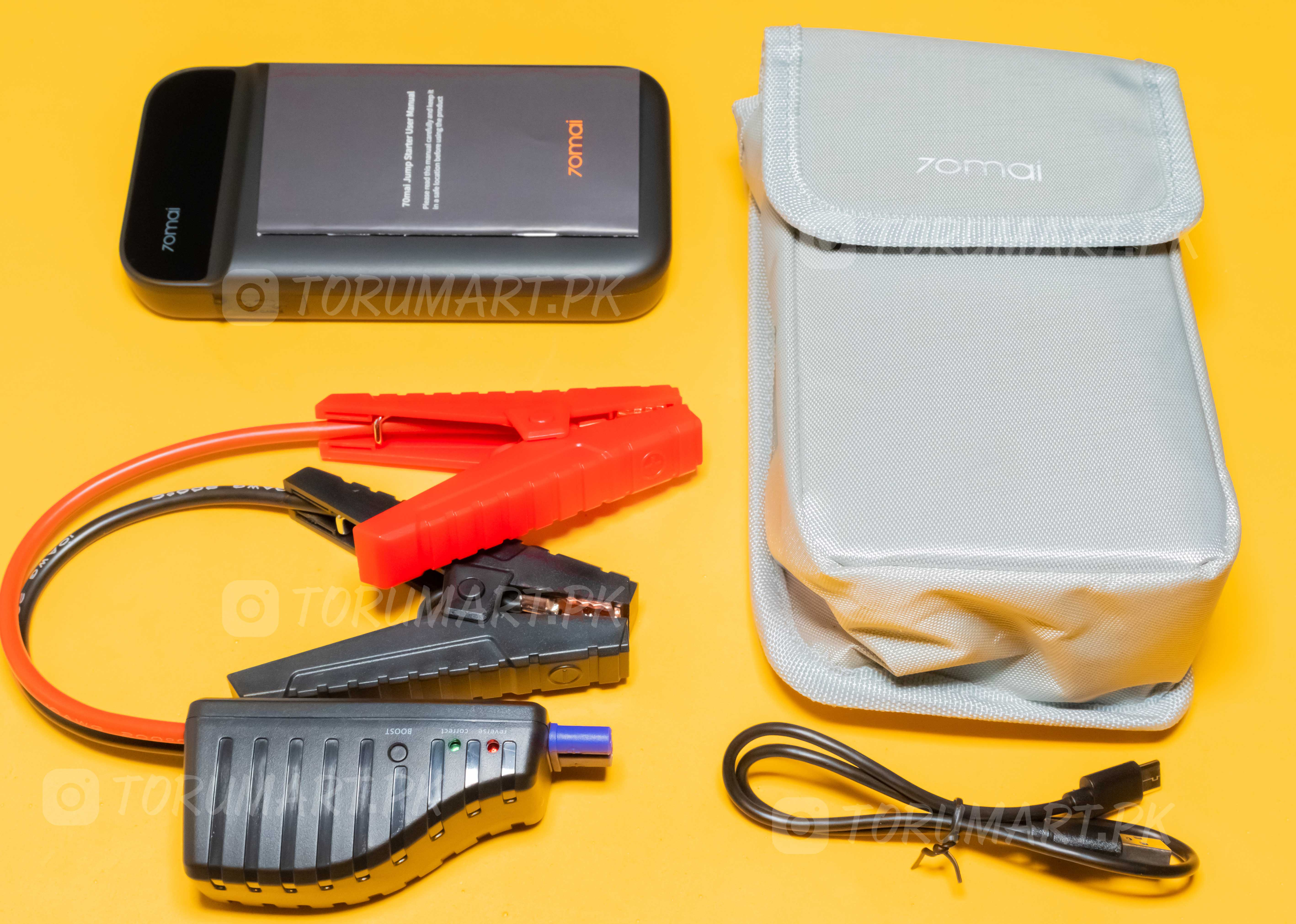 box contents 70mai car jump starter