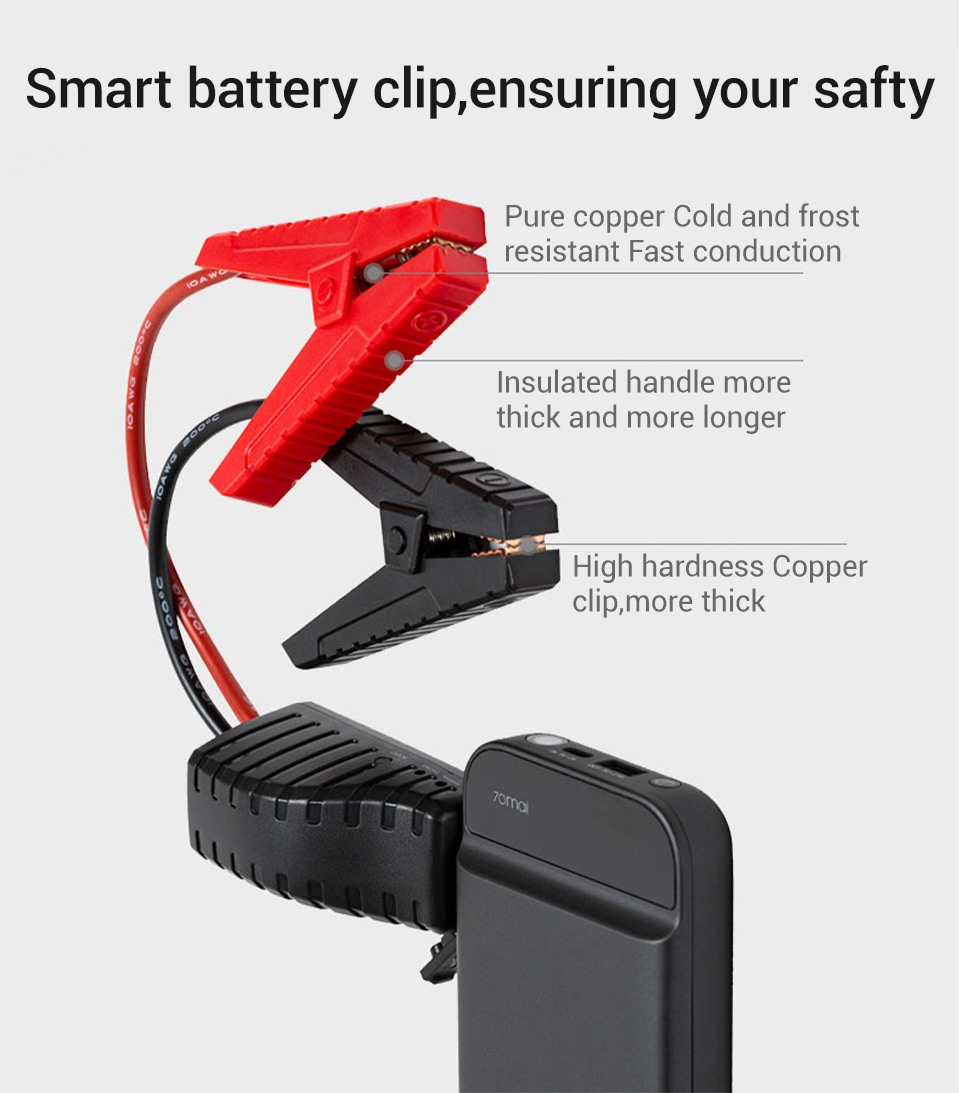 smart battery clip, safe and reliable