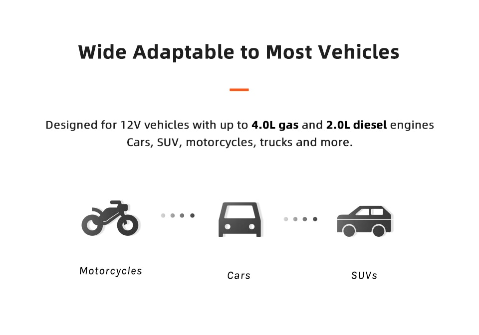 adaptable to most vehicles