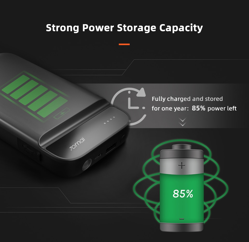 strong power storage capacity