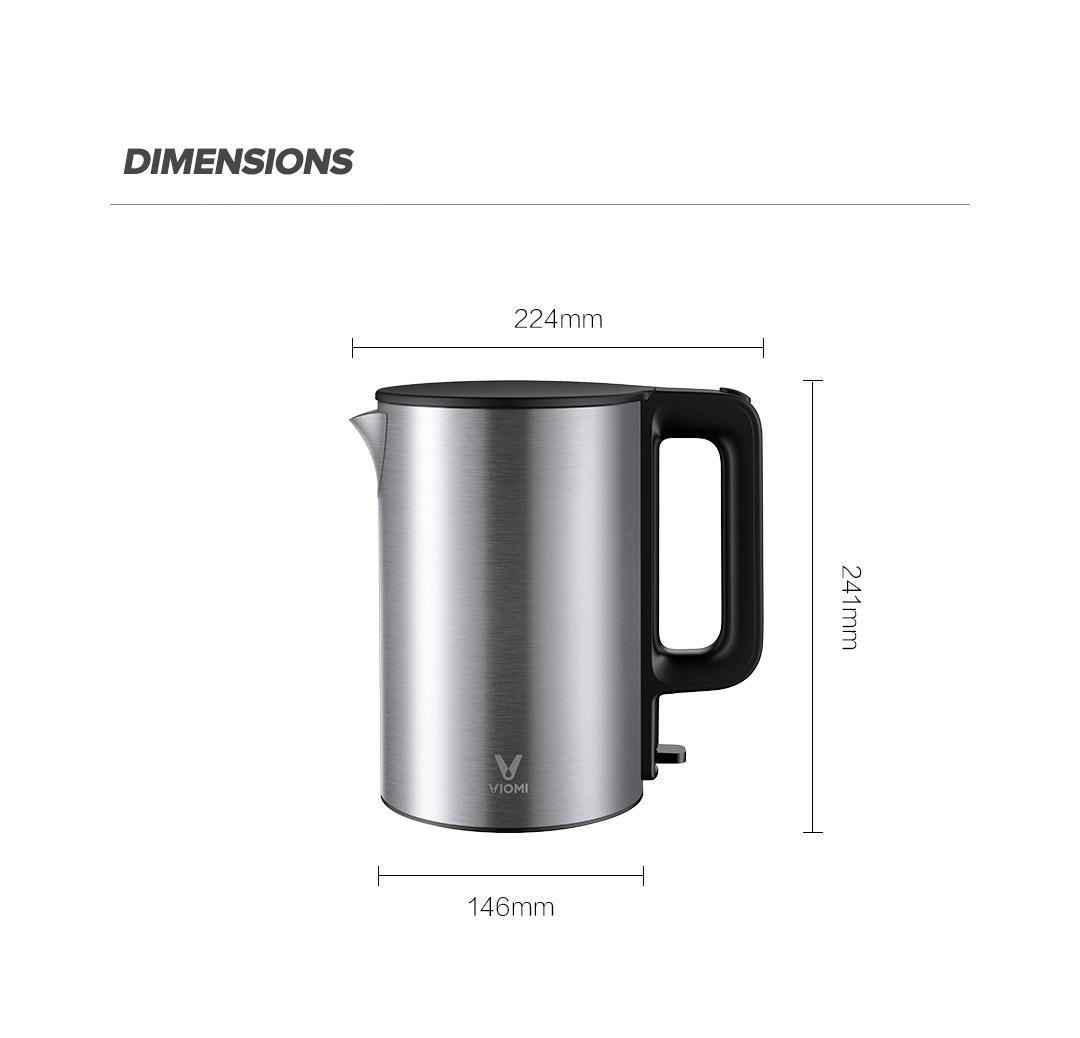 viomi kettle dimensions