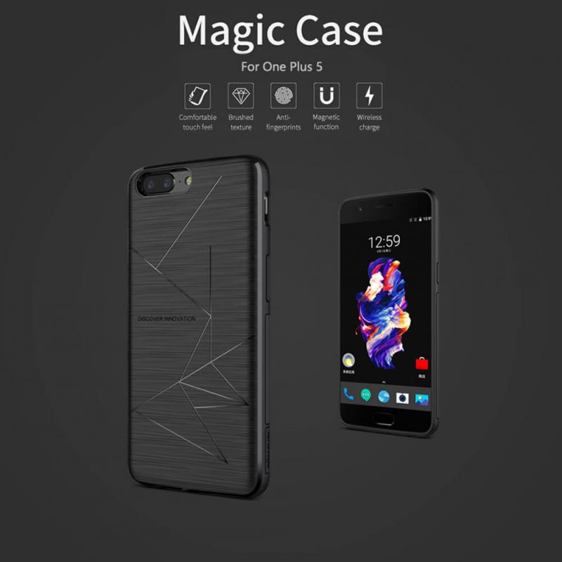 promo code 367ef e27bc Nillkin Magnetic Magic Case for OnePlus 5 (Qi Wireless Charging case)