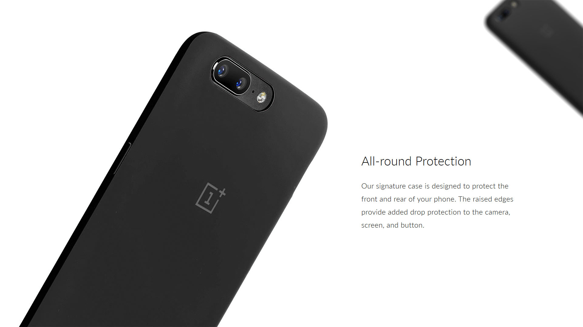 official photos f5a7d 7e3fc Official OnePlus 5 Silicone Protective Case Black