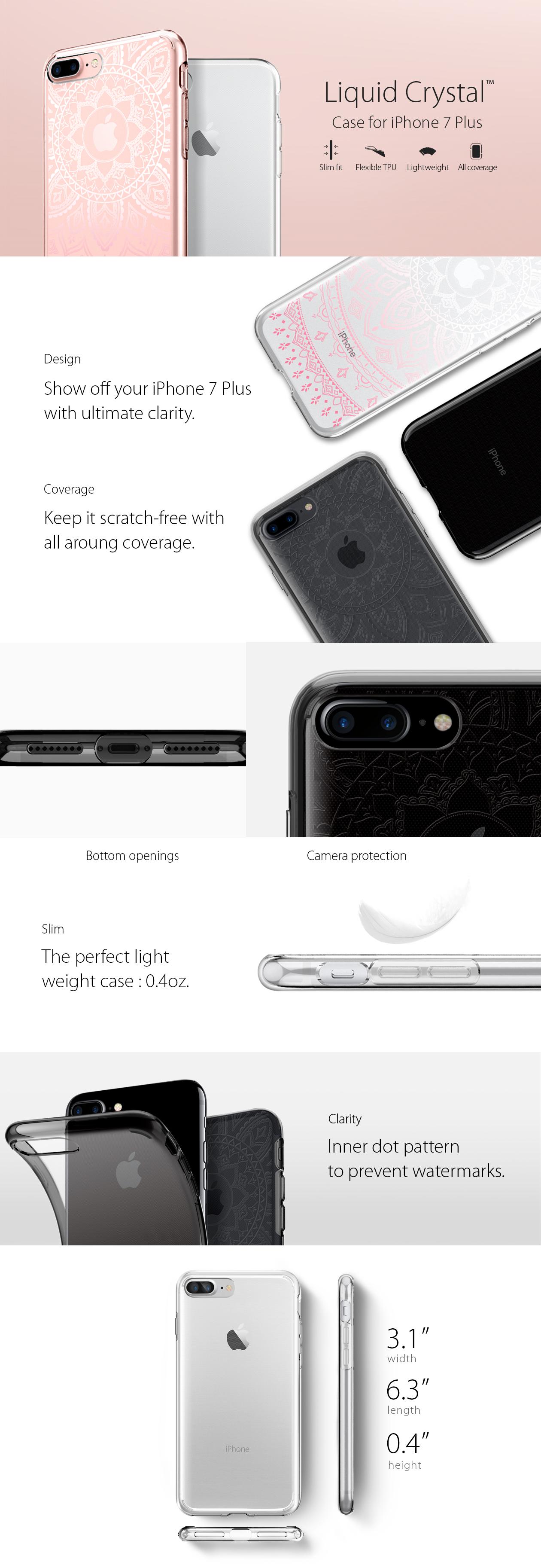 Spigen Liquid Crystal Iphone 8 7 Transparent Clear Galaxy S8 Plus Case Original