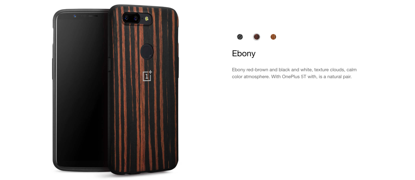 cheap for discount 40347 2eb63 Official OnePlus 5T Bumper Case (Ebony, Karbon, Rosewood)